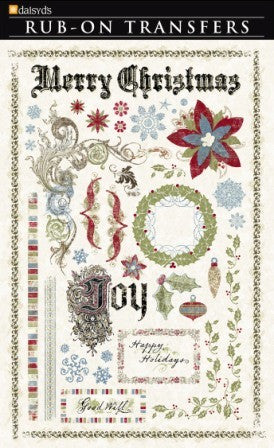 Rub On - Merry Christmas - Shop and Crop Scrapbooking