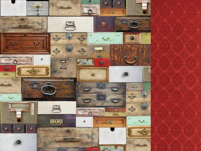 Antique Bazaar - Collector's Pattern Paper - Shop and Crop Scrapbooking