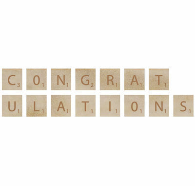 Congratulations - Kaisercraft Wooden Letters WL720 - Shop and Crop Scrapbooking