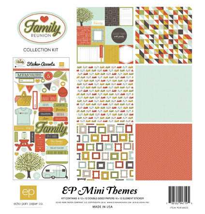 Echo Park Family Reunion Mini Collection Kit - Shop and Crop Scrapbooking