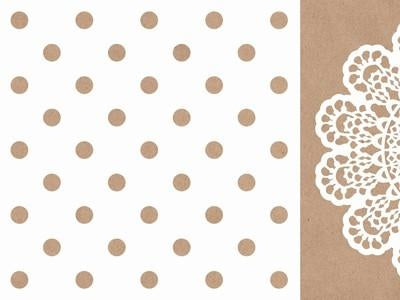 Mix & Match - 12x12 Scrapbook Paper Polka Dot - Shop and Crop Scrapbooking