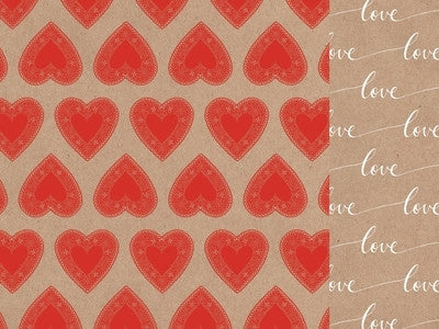 Mix & Match - 12x12 Scrapbook Paper Hearts - Shop and Crop Scrapbooking