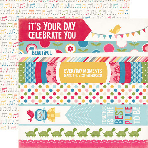 Echo Park Border Strips - Fine & Dandy - Shop and Crop Scrapbooking