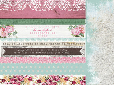 Oh So Lovely - Miss Pattern Paper - Shop and Crop Scrapbooking