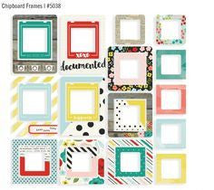 life in Colour Chipboard Frames - Shop and Crop Scrapbooking