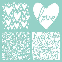 Kaisercraft 12x12 Template - Love Quarters
