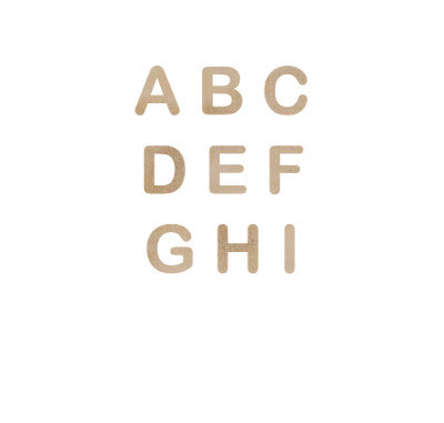 Wooden Letter Alphabet - Shop and Crop Scrapbooking