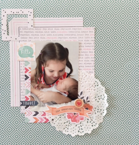 The Sweetest Thing Scrap N Go Kit - Shop and Crop Scrapbooking