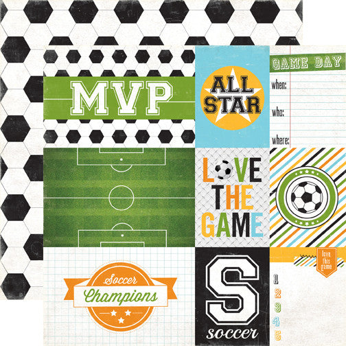 Goal - Soccer Journaling 12 x 12 Paper - Shop and Crop Scrapbooking