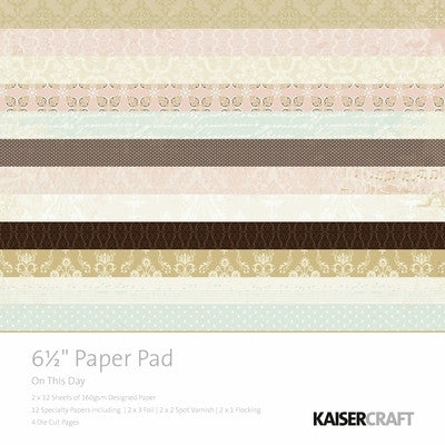 "On This Day - 6.5x6.5"" Paper Pad PP901 - Shop and Crop Scrapbooking"