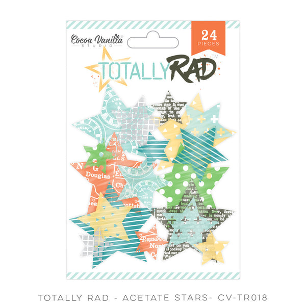 Totally Rad Acetate Stars - Shop and Crop Scrapbooking