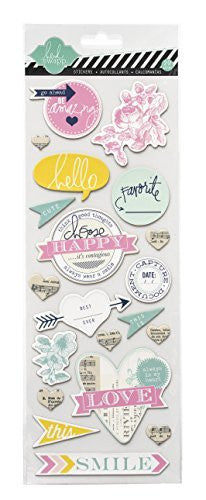 Heidi Swapp Chipboard Stickers, Happy - Shop and Crop Scrapbooking
