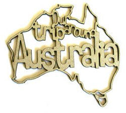Our Trip Around Australia - Chipboard Word - Shop and Crop Scrapbooking