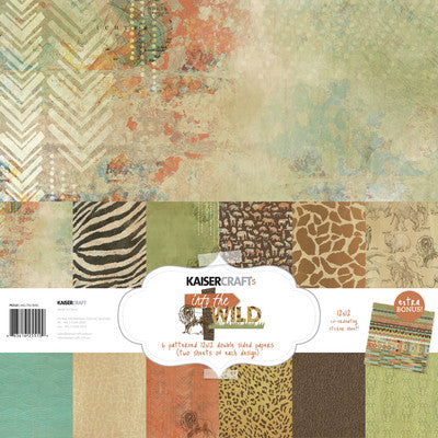 Into The Wild Paper Pack with Bonus Sticker Sheet - Shop and Crop Scrapbooking