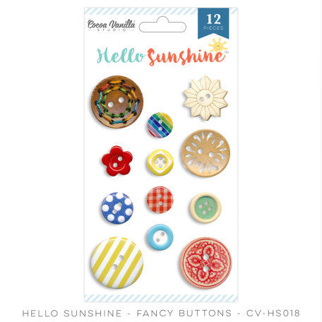 Hello Sunshine Fancy Buttons - Shop and Crop Scrapbooking