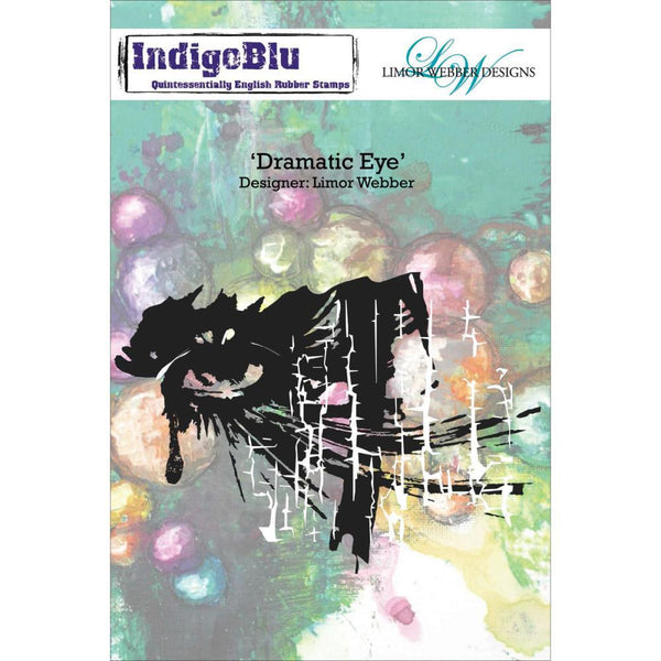 Indigoblu Dramatic Eye - Limor Webber Signature Range - A6 Red Rubber Stamp - Shop and Crop Scrapbooking