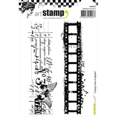 Carabelle Cling Text & Negative Film Collage A6 Cling Stamp