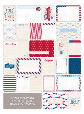 Themed Cards - Amercana 40Pk - Shop and Crop Scrapbooking