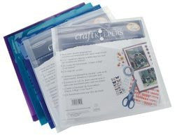 "Generations Craft Keepers Snap Closure Envelope Assorted Colors 12""X12"" - Shop and Crop Scrapbooking"
