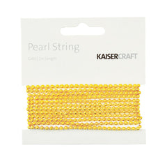 Kaisercraft- Gold Pearl String 2m