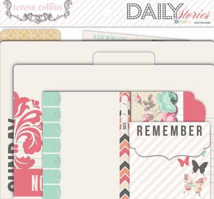 Teresa Collins Designs - Daily Stories Collection - File Folders - Shop and Crop Scrapbooking