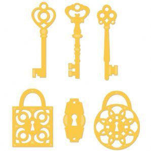 Kaisercraft - Decorative Die - Keys and Locks - Shop and Crop Scrapbooking
