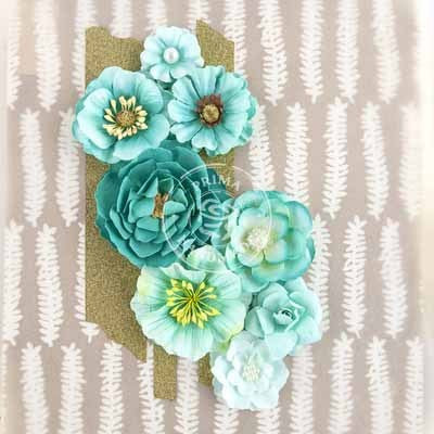 Prima Flowers-Capistrano - Blue Punch - Shop and Crop Scrapbooking
