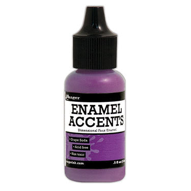 Enamel Accents - Grape Soda - Shop and Crop Scrapbooking