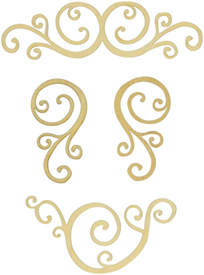 Kaisercraft Curls Wooden Embellishments
