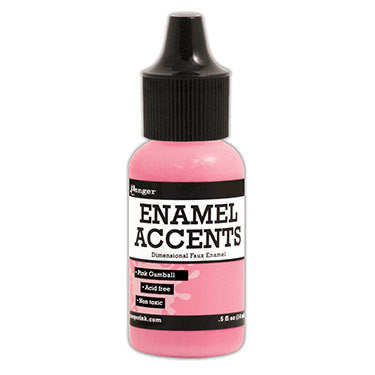 Enamel Accents - Pink Gumball - Shop and Crop Scrapbooking
