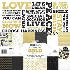 A Touch of Gold Paper Pack with bonus sticker sheet