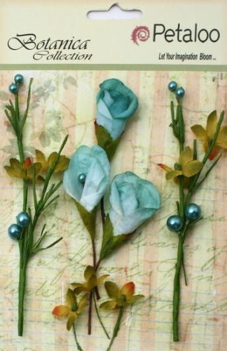 Petaloo Flowers CALLA LILIES AND BERRIES Teal - Shop and Crop Scrapbooking