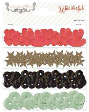 Teresa Collins Designs - Something Wonderful Collection - Sequins - Shop and Crop Scrapbooking