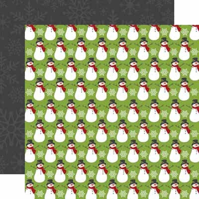 Jingle All The Way Snowmen Paper - Shop and Crop Scrapbooking