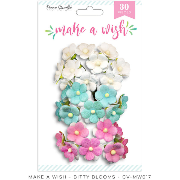 Cocoa Vanilla Studio Make A Wish Bitty Blooms - Shop and Crop Scrapbooking