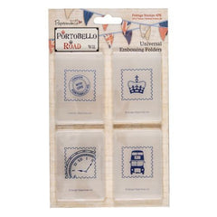 Portbello Road Universal Embossing Folder - Postage Stamps pk 4