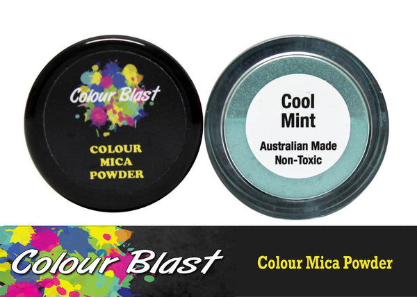 Colour Mica Powder - Cool Mint - Shop and Crop Scrapbooking