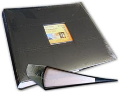 "12x12"" D-Ring Faux Leather Binder - Black"