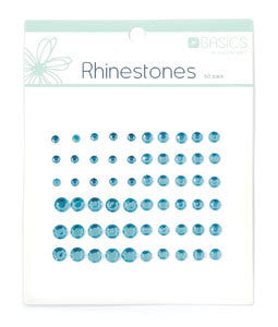 Rhinestones Ice Blue 60pk - Shop and Crop Scrapbooking