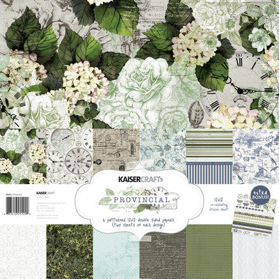 Provincial Paper Pack with Bonus Sticker Sheet - Shop and Crop Scrapbooking
