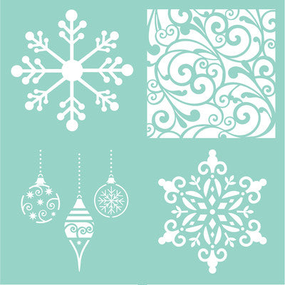 Template Festive Quarters - Shop and Crop Scrapbooking