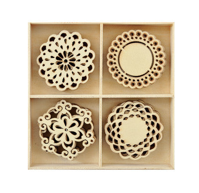 Kaiercraft-Flourish Pack Doilies 20pcs - Shop and Crop Scrapbooking