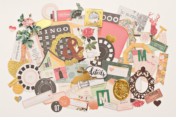 Maggie Holmes Open Book Ephemera - Shop and Crop Scrapbooking