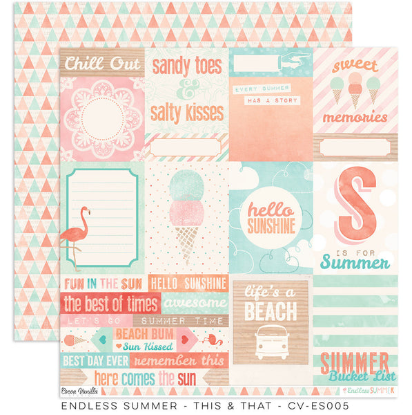 "Endless Summer ""This & That"" Paper - Shop and Crop Scrapbooking"