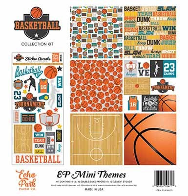 Echo Park 2016 Basketball-Basketball Collection Kit - Shop and Crop Scrapbooking
