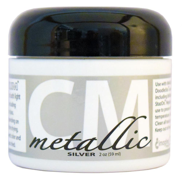 Creative Medium Metallic Silver Texture Paste 2oz - Shop and Crop Scrapbooking