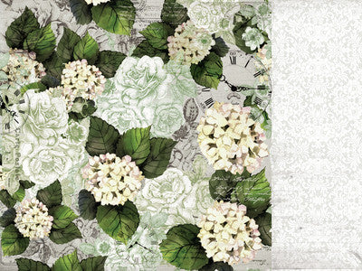 Provincial 12x12 Scrapbook Paper - Hydrangea - Shop and Crop Scrapbooking