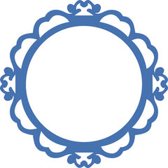 Decorative Die Ornate Round Frame - DD549