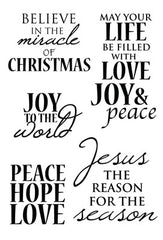 Holy Night Clear Stamp
