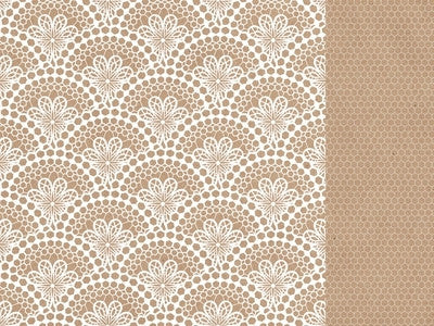 Mix & Match - 12x12 Scrapbook Paper Lace - Shop and Crop Scrapbooking